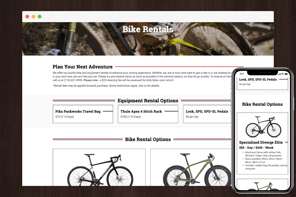 Bike Rental Example - Toms ProPark Ave