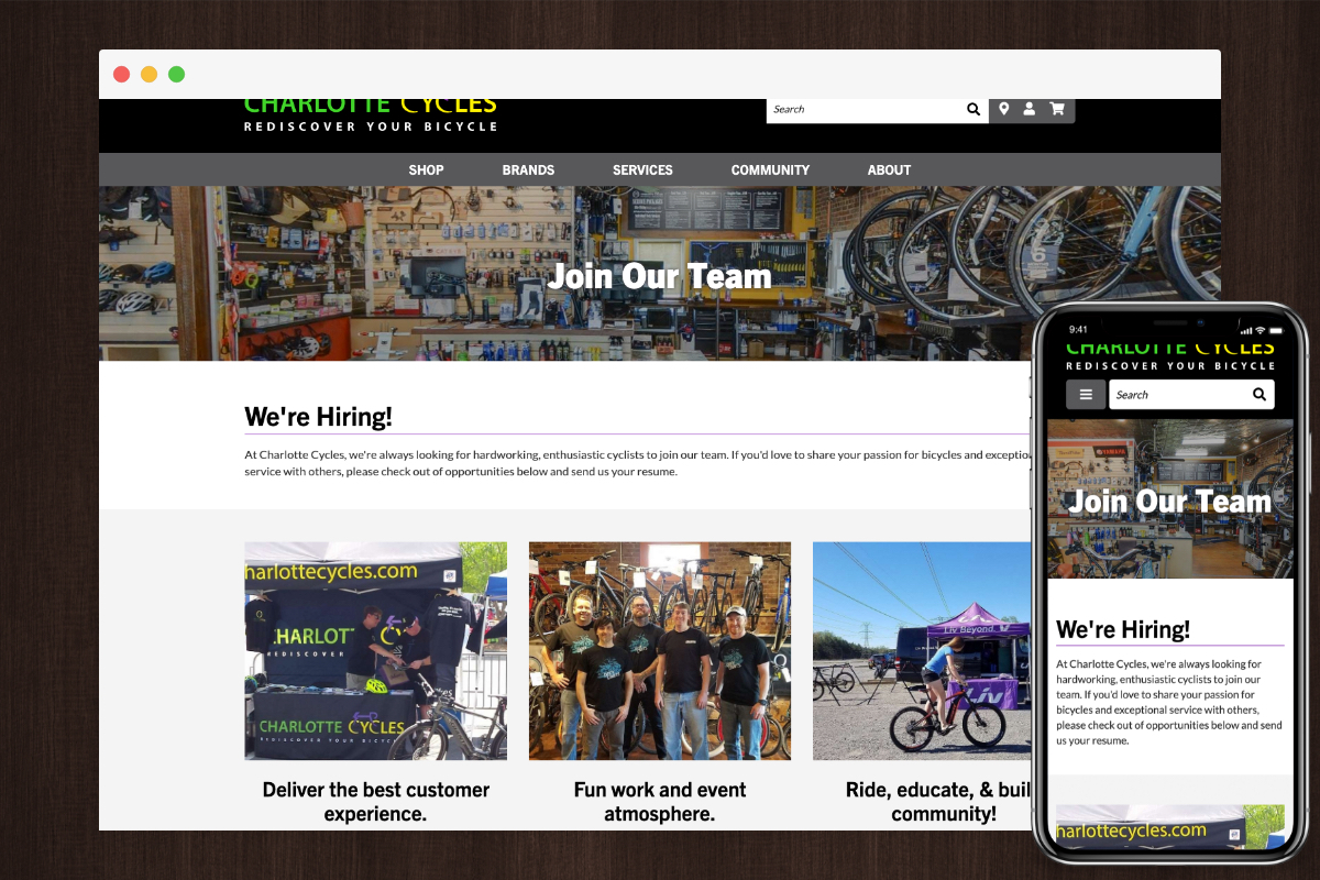 Hiring Example - Charlotte Cycles