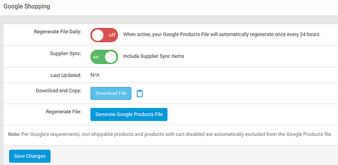 Activate Google Shopping